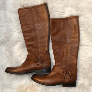 Frye Tanned Leather Riding Boots